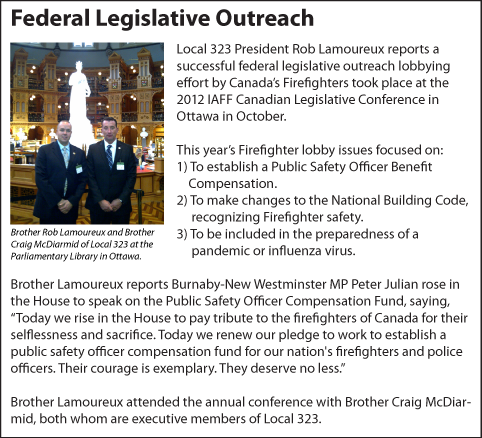 Burnaby Fire Fighters IAFF Local 323 - Archive News